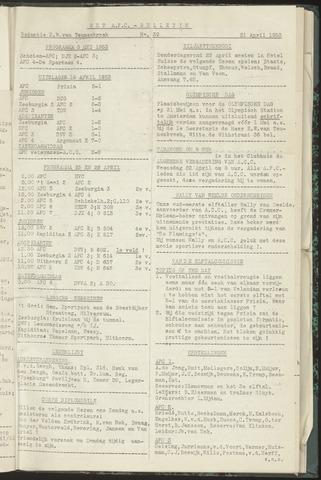 Bulletins (vnl. opstellingen) 1953-04-21