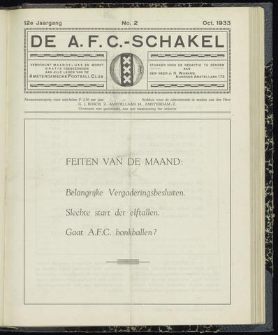 Schakels (clubbladen) 1933-10-01