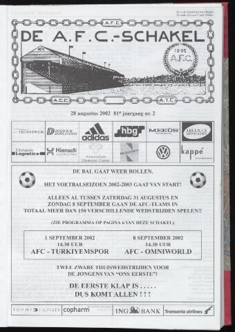 Schakels (clubbladen) 2002-08-28