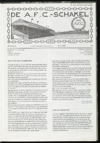 Schakels (clubbladen) 1985-05-08