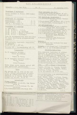 Bulletins (vnl. opstellingen) 1962-08-21