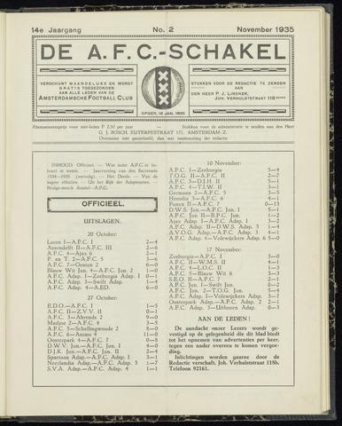 Schakels (clubbladen) 1935-11-01