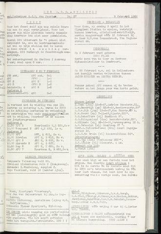 Bulletins (vnl. opstellingen) 1960-02-09