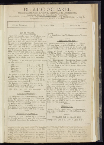 Schakels (clubbladen) 1944-03-30
