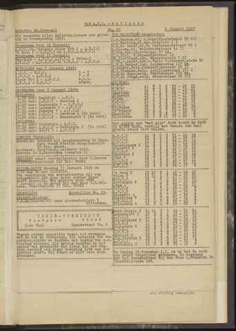 Bulletins (vnl. opstellingen) 1949-01-06