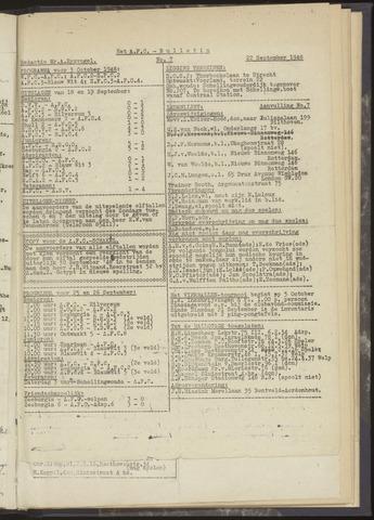 Bulletins (vnl. opstellingen) 1948-09-22