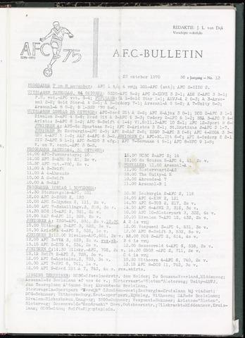 Bulletins (vnl. opstellingen) 1970-10-27