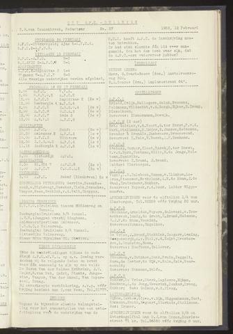 Bulletins (vnl. opstellingen) 1952-02-12