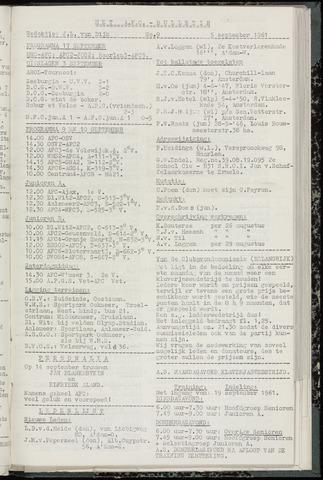 Bulletins (vnl. opstellingen) 1961-09-05