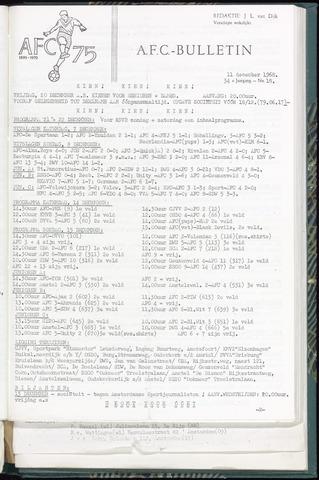 Bulletins (vnl. opstellingen) 1968-12-11