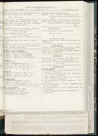 Bulletins (vnl. opstellingen) 1963-12-31