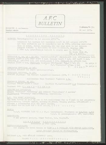 Bulletins (vnl. opstellingen) 1973-05-16