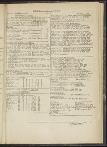 Bulletins (vnl. opstellingen) 1948-04-21
