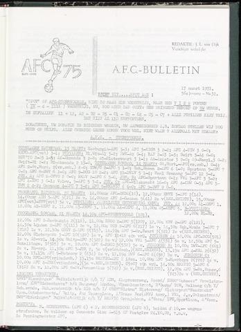 Bulletins (vnl. opstellingen) 1971-03-17