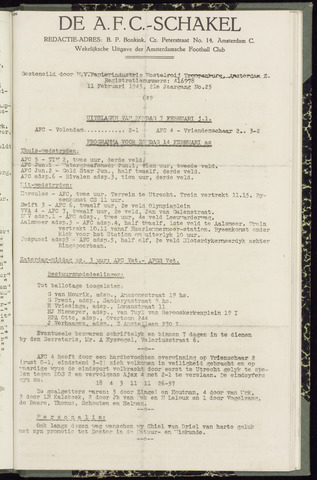 Schakels (clubbladen) 1943-02-11