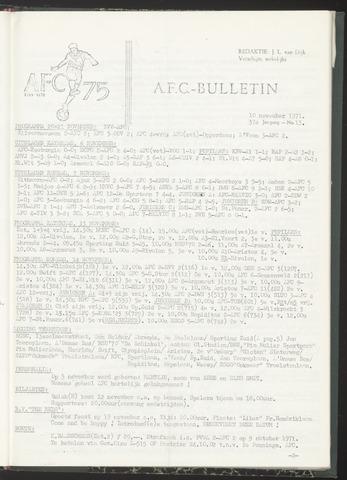 Bulletins (vnl. opstellingen) 1971-11-10