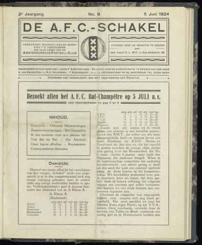 Schakels (clubbladen) 1924-06-05