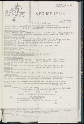 Bulletins (vnl. opstellingen) 1968-05-01