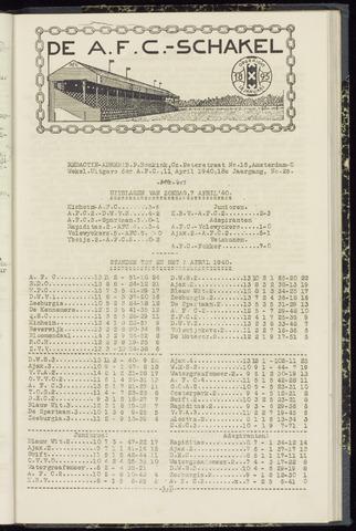 Schakels (clubbladen) 1940-04-11