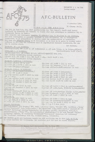 Bulletins (vnl. opstellingen) 1968-11-06
