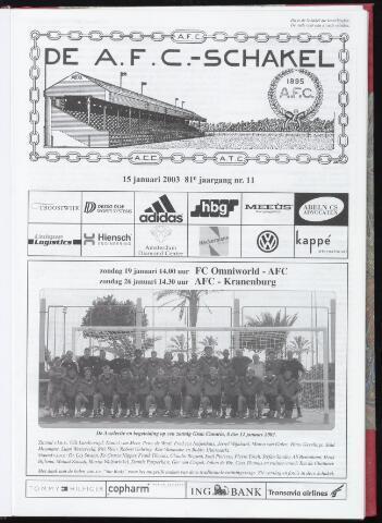 Schakels (clubbladen) 2003