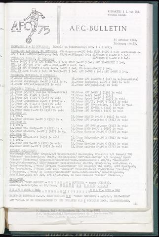Bulletins (vnl. opstellingen) 1968-10-30