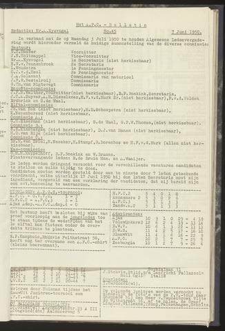 Bulletins (vnl. opstellingen) 1950-06-07