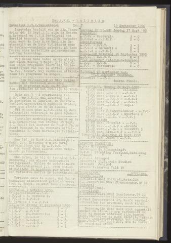 Bulletins (vnl. opstellingen) 1950-09-19