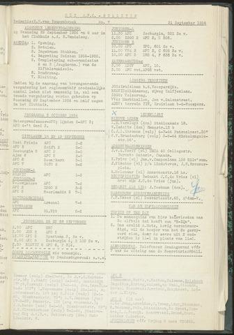 Bulletins (vnl. opstellingen) 1954-09-21