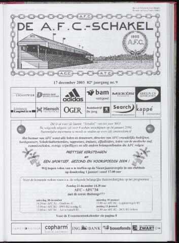 Schakels (clubbladen) 2003-12-17