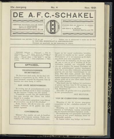 Schakels (clubbladen) 1931-11-01