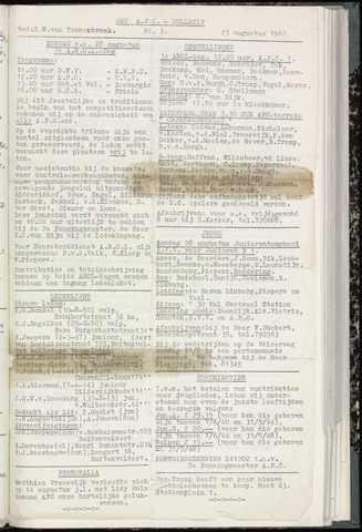 Bulletins (vnl. opstellingen) 1960-08-23