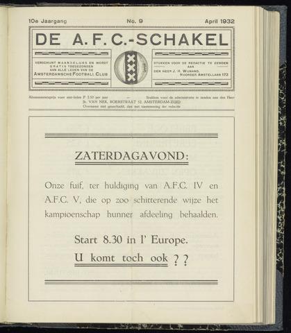 Schakels (clubbladen) 1932-04-01