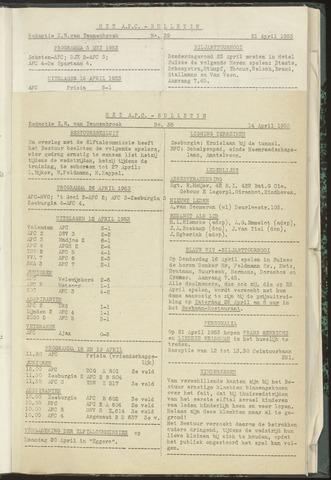 Bulletins (vnl. opstellingen) 1953-04-14