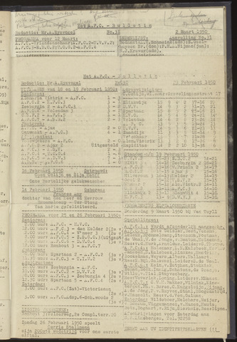 Bulletins (vnl. opstellingen) 1950-02-23