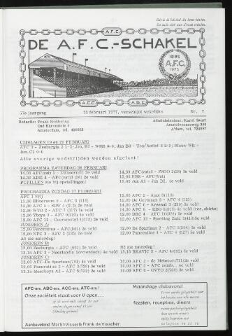 Schakels (clubbladen) 1977-02-23