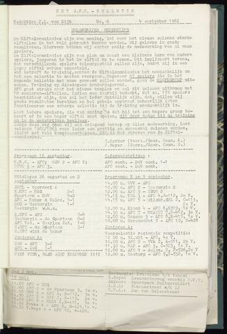 Bulletins (vnl. opstellingen) 1962-09-04