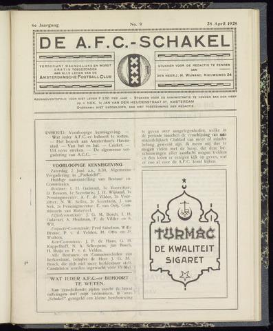 Schakels (clubbladen) 1928-04-28