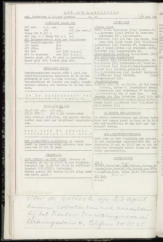 Bulletins (vnl. opstellingen) 1960-05-17