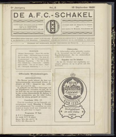Schakels (clubbladen) 1926-09-18