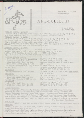 Bulletins (vnl. opstellingen) 1970-04-01