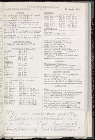Bulletins (vnl. opstellingen) 1961-01-17
