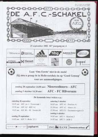 Schakels (clubbladen) 2002-09-25