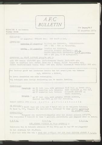 Bulletins (vnl. opstellingen) 1973-08-15