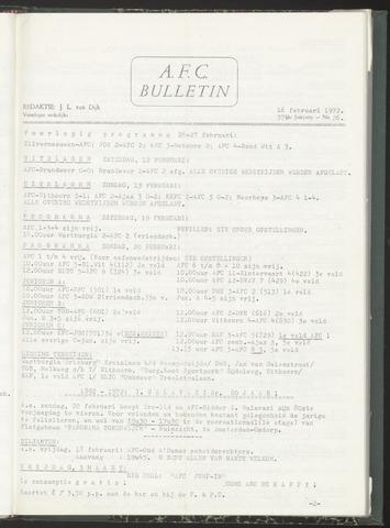 Bulletins (vnl. opstellingen) 1972-02-16