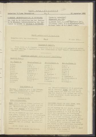 Bulletins (vnl. opstellingen) 1952-07-30