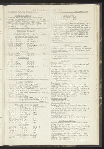 Bulletins (vnl. opstellingen) 1952-03-18