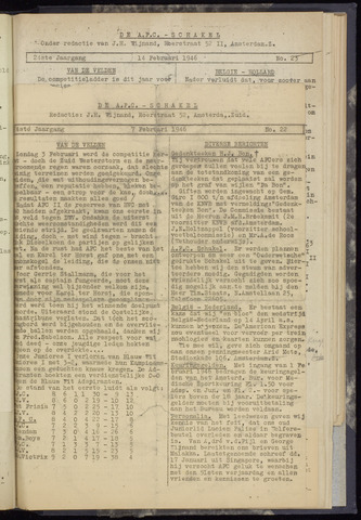 Schakels (clubbladen) 1946-02-07