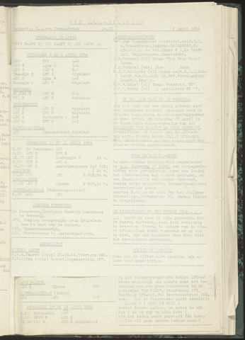Bulletins (vnl. opstellingen) 1954-04-06