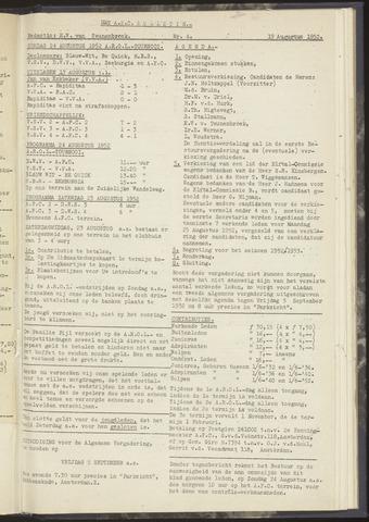 Bulletins (vnl. opstellingen) 1952-08-19